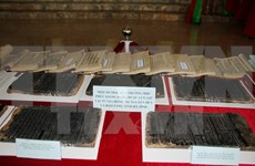 Phuc Giang school woodblocks displayed in Hanoi
