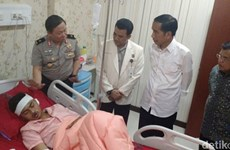 Indonesian President visits victims of bomb attacks