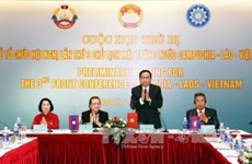 Preparations for Vietnam-Laos-Cambodia front conference discussed