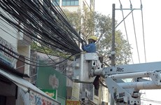 Electric power lines going underground in HCM City