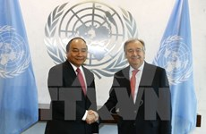 PM Nguyen Xuan Phuc holds talks with UN Secretary General