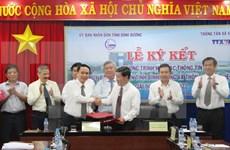 VNA, Binh Duong shake hands in communications