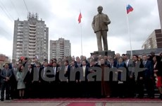 Ho Chi Minh statue inaugurated in Lenin's birthplace