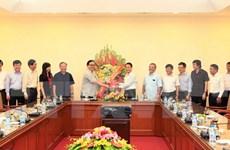 Hanoi Party Secretary congratulates  VNA on Journalism Day