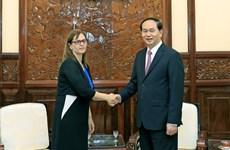 President notes growing Vietnam-Israel ties during diplomat's tenure