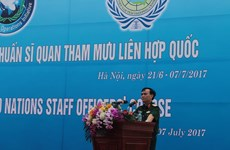 Vietnam hosts UN staff officer training course