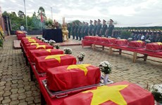 More martyrs' remains repatriated from Cambodia in dry season