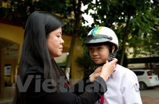 Dong Nai: 79 percent of children wear helmets