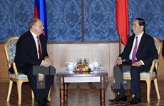 President Tran Dai Quang meets Russian Communist Party leader