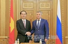 President hails Vietnam-Russia parliamentary ties