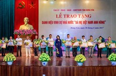 Vice President attends ceremony honouring heroic mothers in Hung Yen