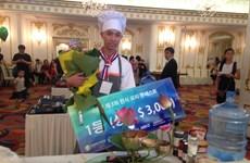 Korean cuisine contest winner receives prize of 3,000 USD