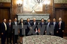 NA Vice Chairman Uong Chu Luu visits Japan's upper, lower houses