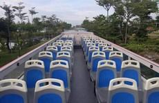 Open double-decker bus debuts in Da Nang