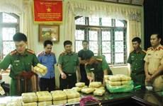 Over 30kg of pink crystal drug seized in Lai Chau