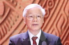 Cambodian media introduces Party chief Nguyen Phu Trong's visit