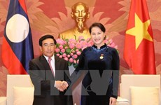 National Assembly Chairwoman meets Laos Vice President
