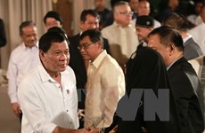 Philippine President gains high support rating