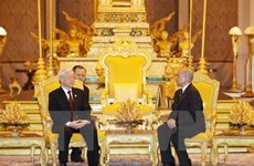 Party chief sends thank-you message to Cambodian King