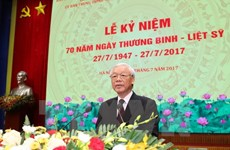 Party chief: Nation keeps in mind sacrifices of revolutionary contributors