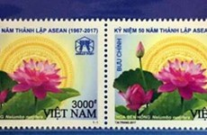 Postage stamp issued on ASEAN's 50th founding anniversary