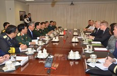 Vietnamese, US defence chiefs hold talks