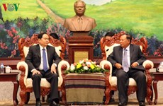 Lao leader hails effective front cooperation with Vietnam