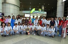 Women's football team arrive in Malaysia, aim for gold