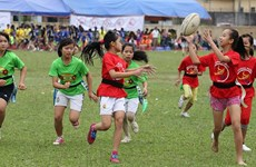 Vietnamese children equipped with life skills through rugby