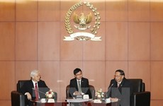 Party chief meets Indonesian People's Consultative Assembly leaders