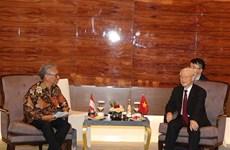 Party leader lauds Indonesia-Vietnam friendship association's efforts