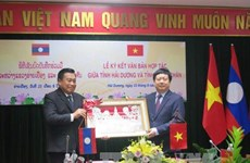 Hai Duong fosters ties with Vientiane province