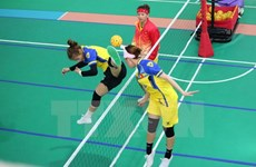 Female Sepak Takraw team adds one silver to Vietnam's medal tally
