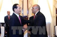 President Tran Dai Quang receives outgoing Cuban ambassador