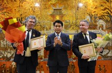 French nationals honoured for contributions to Hanoi's growth