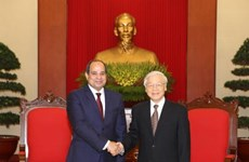 Party leader receives Egyptian President
