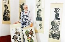 Artist portrays Vietnamese, Dutch farmers