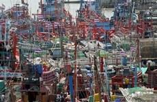 Thai fishermen demonstrate against EU fishing regulations