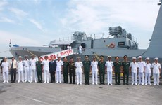Indian navy ships visit Hai Phong city