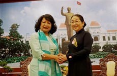 HCM City leader welcomes President of Global Summit of Women
