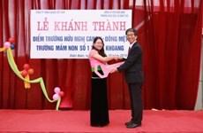 Canon Vietnam builds kindergarten in mountainous province