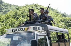 Myanmar tightens security at border check points, airports