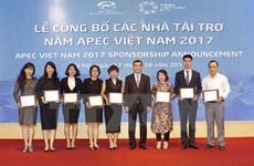 Sponsors of APEC 2017 events announced