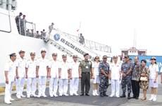 Indonesian naval ships visit HCM City
