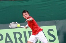 Int'l tennis tourney underway in HCM City