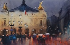 Hanoi hosts 2nd int'l watercolour painting exhibition