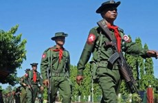Myanmar: Thousands people march in support of military