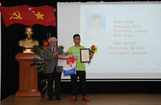Vietnamese writers take part in French contest