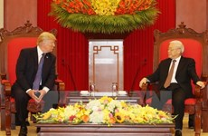 Party chief welcomes US President