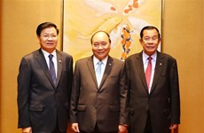 Vietnamese, Lao, Cambodian PMs review trilateral cooperation